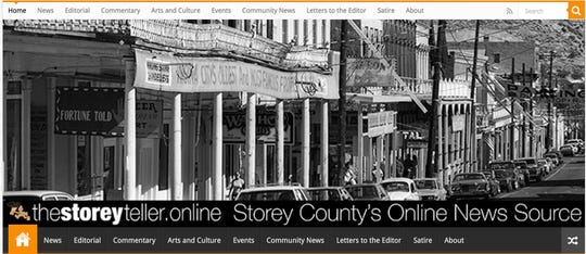 The homepage of The Storey Teller website on March 21, 2019.