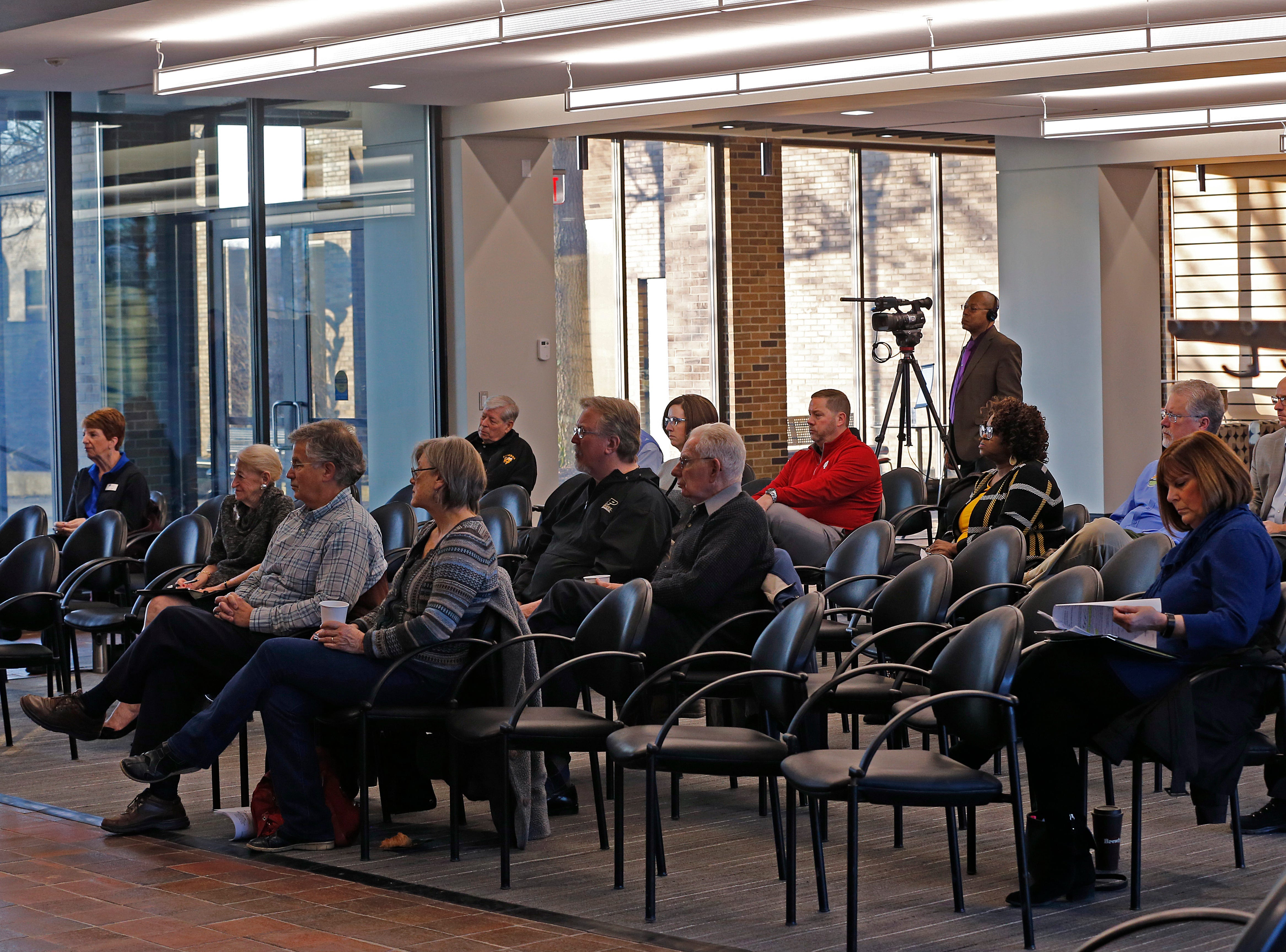 About 20 people turned out Friday morning for IU East's Legislative Forum in Whitewater Hall on the school's campus.