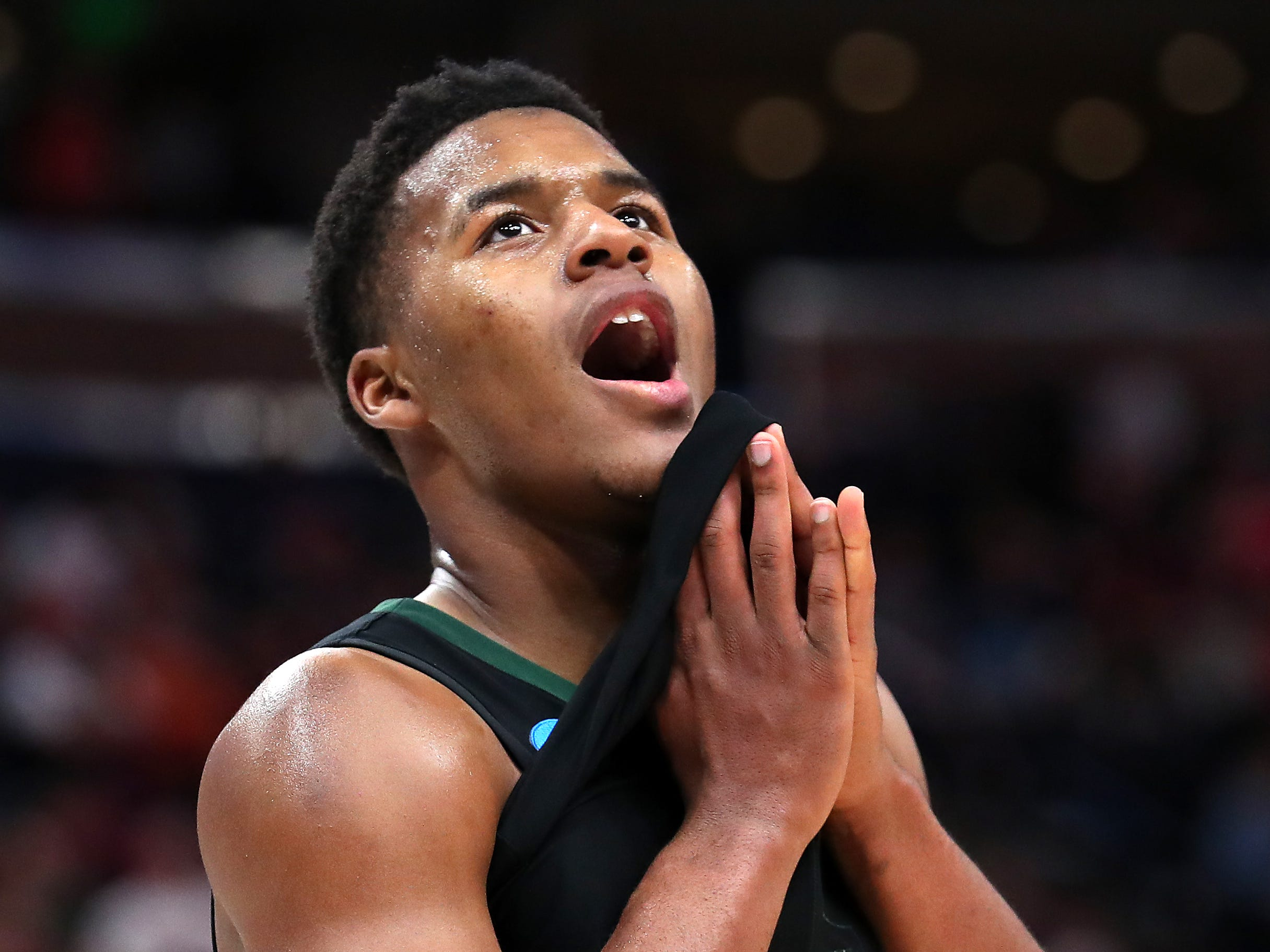 Baylor's Jared Butler reacts to Thursday's win over Syracuse.
