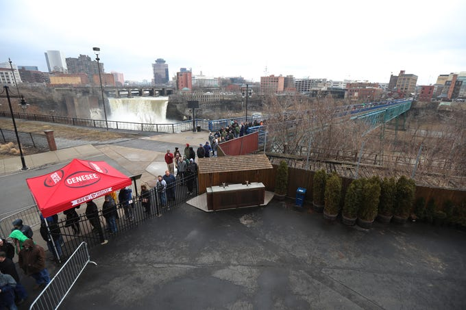 The line to buy the limited edition Genesee Dream Ale, a collaborative beer made by Genesee Brew House and Other Half Brewing was long and formed before the official sale of the beer.