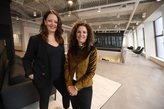 Partner + Napier's Courtney Cotrupe, president, and Sharon Napier, CEO, at their new office at The Metropolitan, the former Chase Tower.