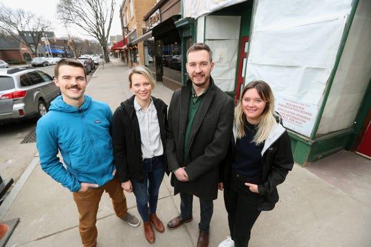 Casey O'Mara (left) and siblings Ashley , Jon and Paulina Swan are opening a new Italian restaurant on Park Avenue.
