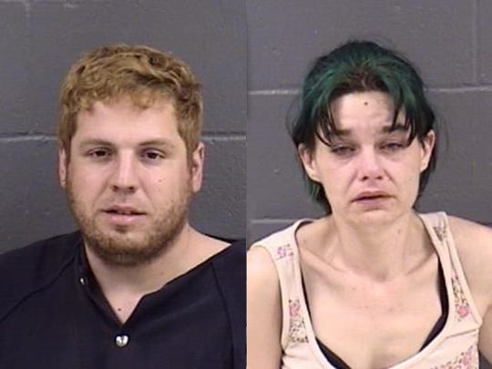 Left to right: Matthew Buswell, 36; Cassandra Maughan, 34