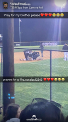 A copy of a Snapchat photo taken by a fan at the Brady-Sonora baseball game Tuesday, March 19, 2019, at the Brady baseball facility.