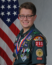 Del Rio Eagle Scout Benjamin Rawald of Troop 280.