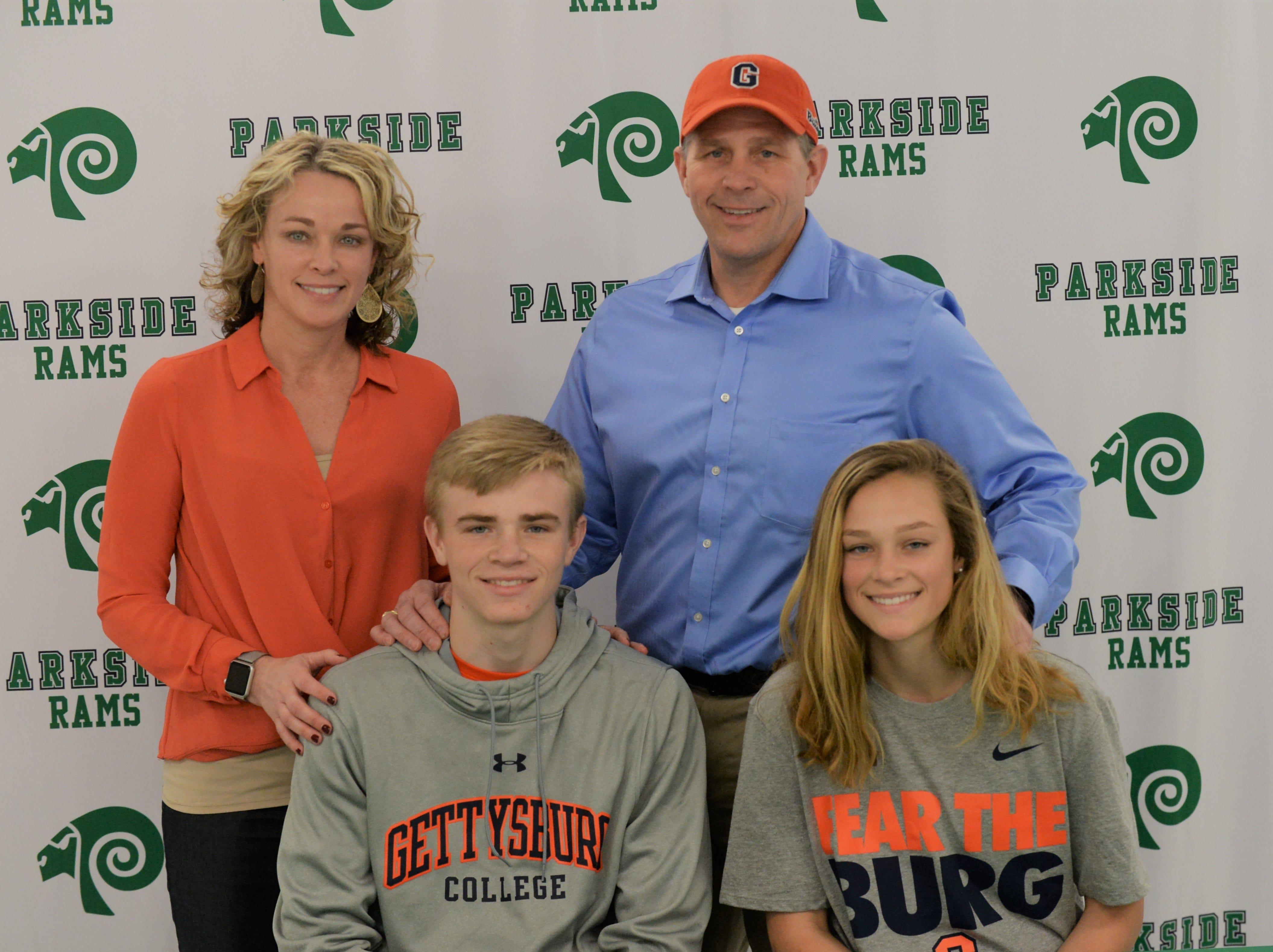 Parkside wrestler Michael Daugherty announces his intent to wrestle at Gettysburg College on Friday, March 22, 2019.