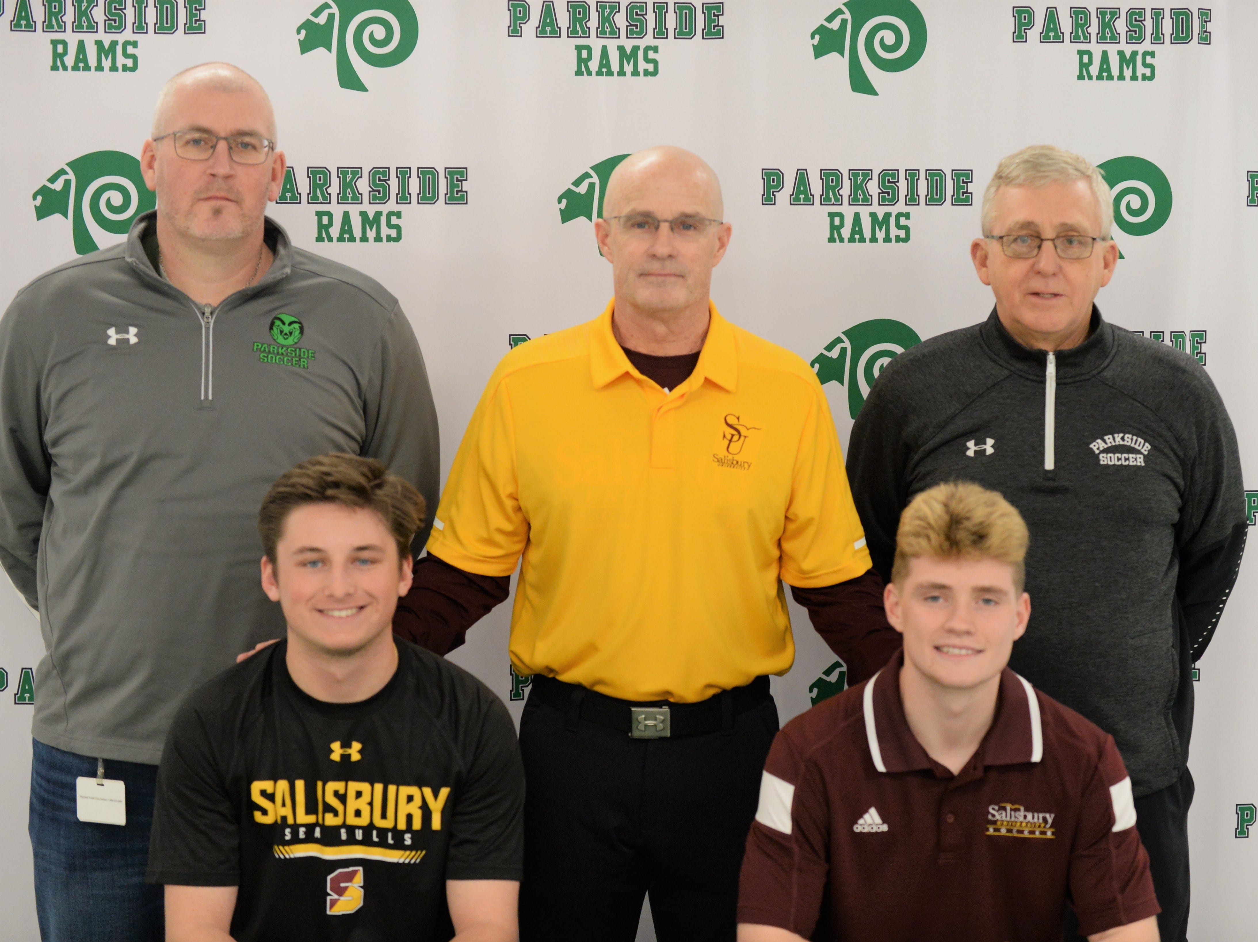 Parkside's Kade Johnson and Mark Zimmerman announce their intent to play soccer at Salisbury University on Friday, March 22, 2019.