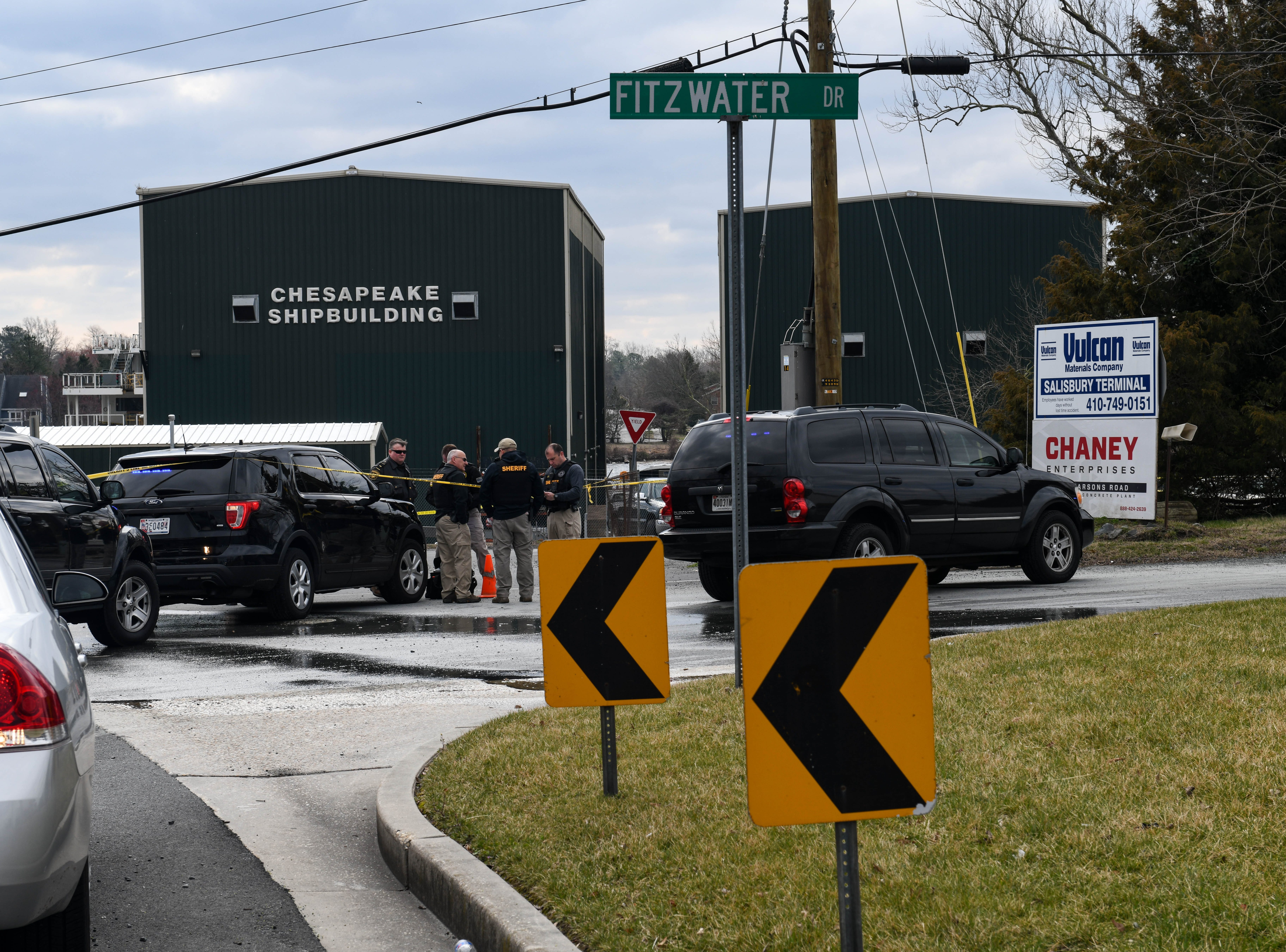 Law enforcement officials have blocked traffic on Fitzwater Street and Parsons Road and the surrounding area following a morning car chase on Friday, March 22, 2019.