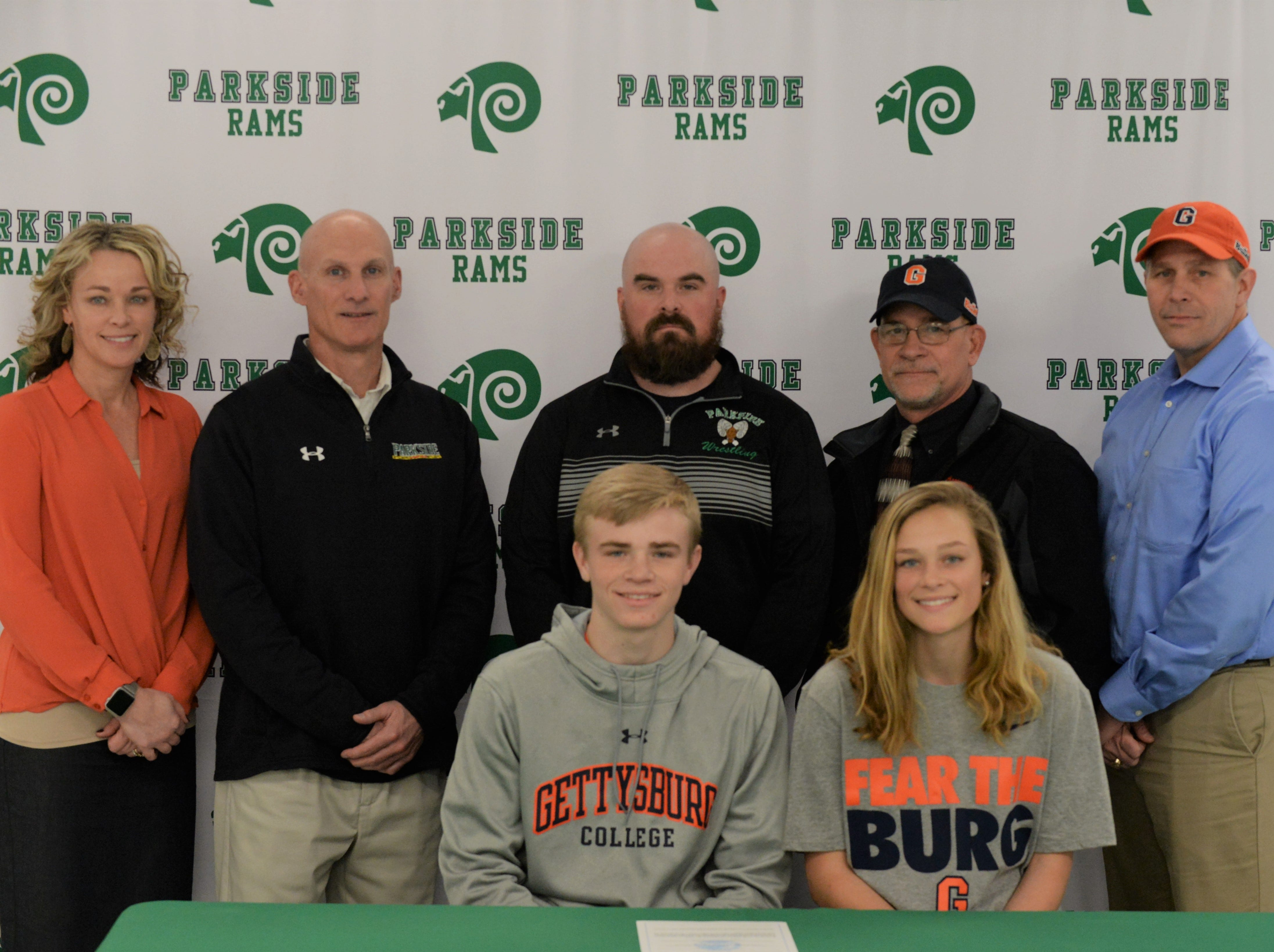 Parkside wrestler Michael Daugherty announces his intent to wrestler at Gettysburg College on Friday, March 22, 2019.