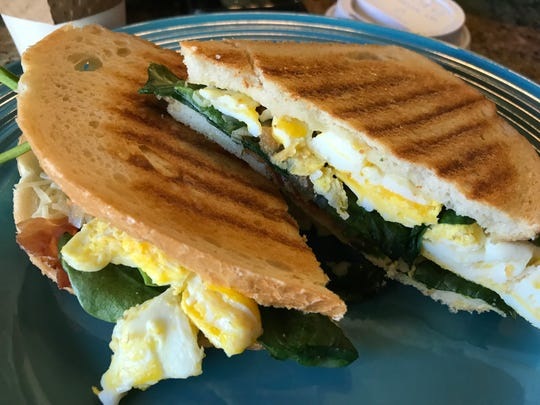 A rise and shine breakfast sandwich at Daydream Cafe in Sheboygan Falls.