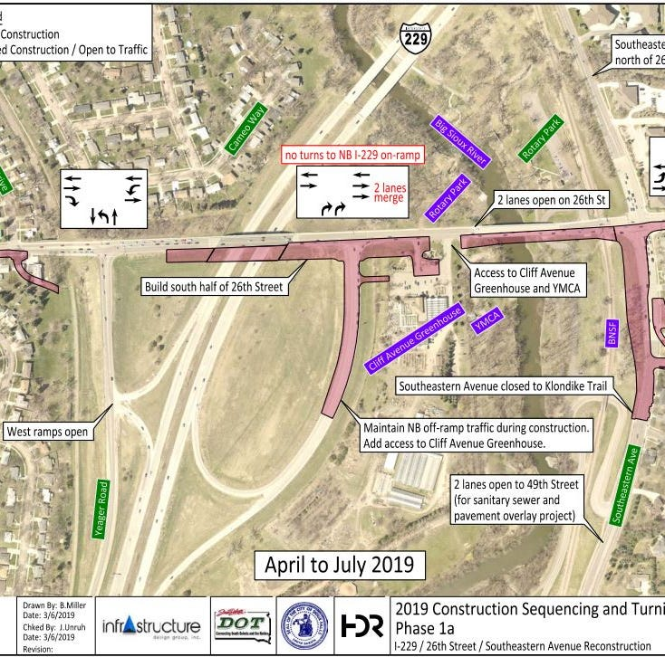 Construction at 26th Street-Interstate 229 interchange begins Monday