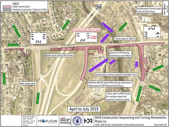 The 26th Street-Interstate 229 reconstruction project is scheduled to begin Monday.