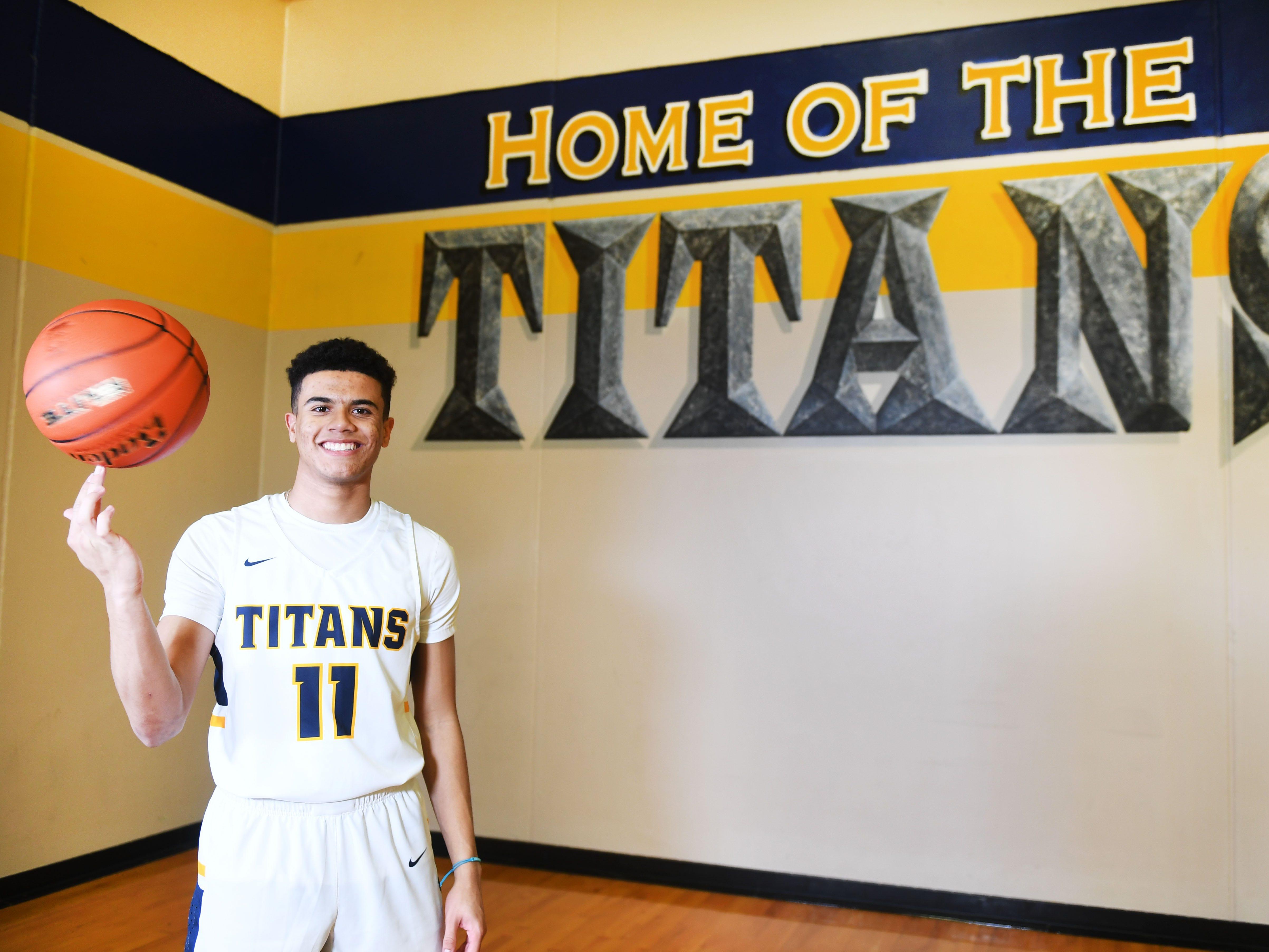 Tea Area senior Justin Hohn Thursday, March 21, at Tea Area High School.