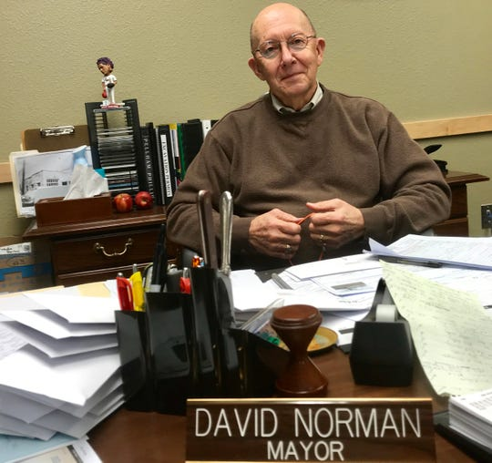"David Norman, the 76-year-old mayor of Ava, says Robert Thompson sent him a text stating: ""I see coming around the square, I will stomp your ass."" Norman admits he was behind the anonymous information mailed to the News-Leader stating that Thompson was convicted of a felony in Florida."