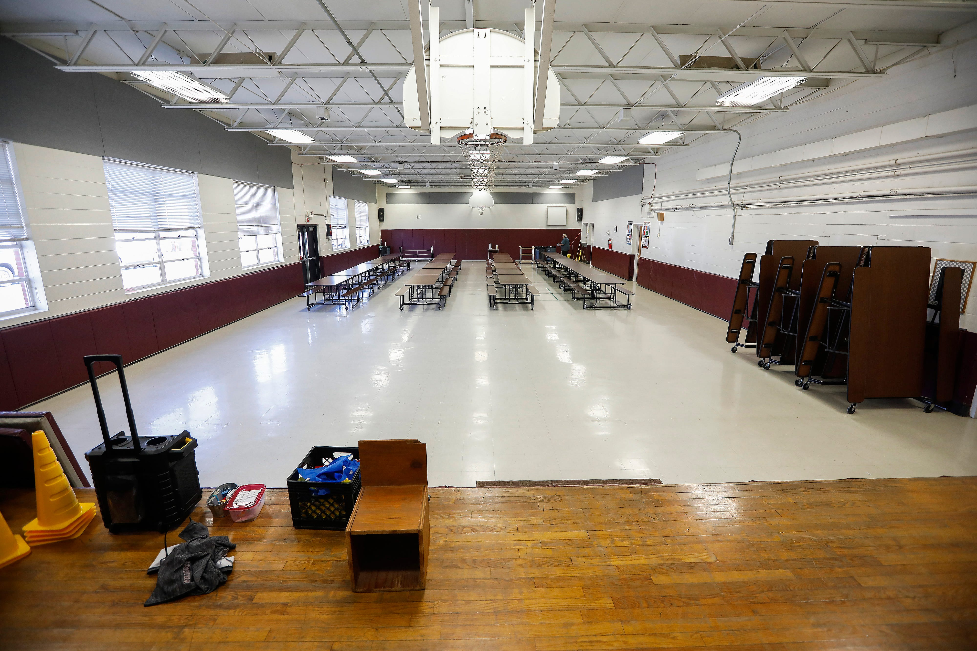 """The """"gymnacafetorium"""" at Logan Elementary School will be used solely for a cafeteria and a new safe room will function as a gymnasium if the April 2 bond and levy issues pass."""