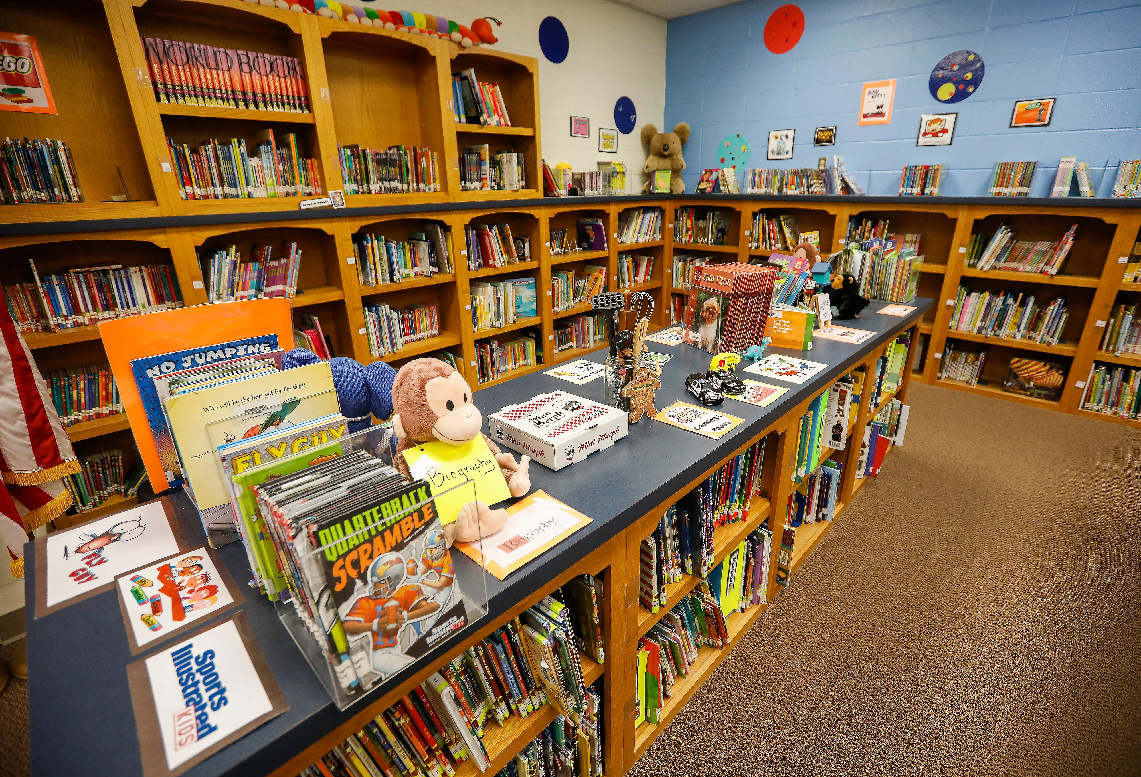 The library at Logan Elementary School will be relocated to a new, larger space and the current library will be turned into a classroom if the April 2 bond and levy issues pass.