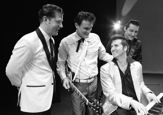 One Night in Memphis, the story of Carl Perkins,Jerry Lee Lewis, Johnny Cash andElvis Presley playing together, will be at7:30 p.m. March 28 at the Paramount Center for the Arts.