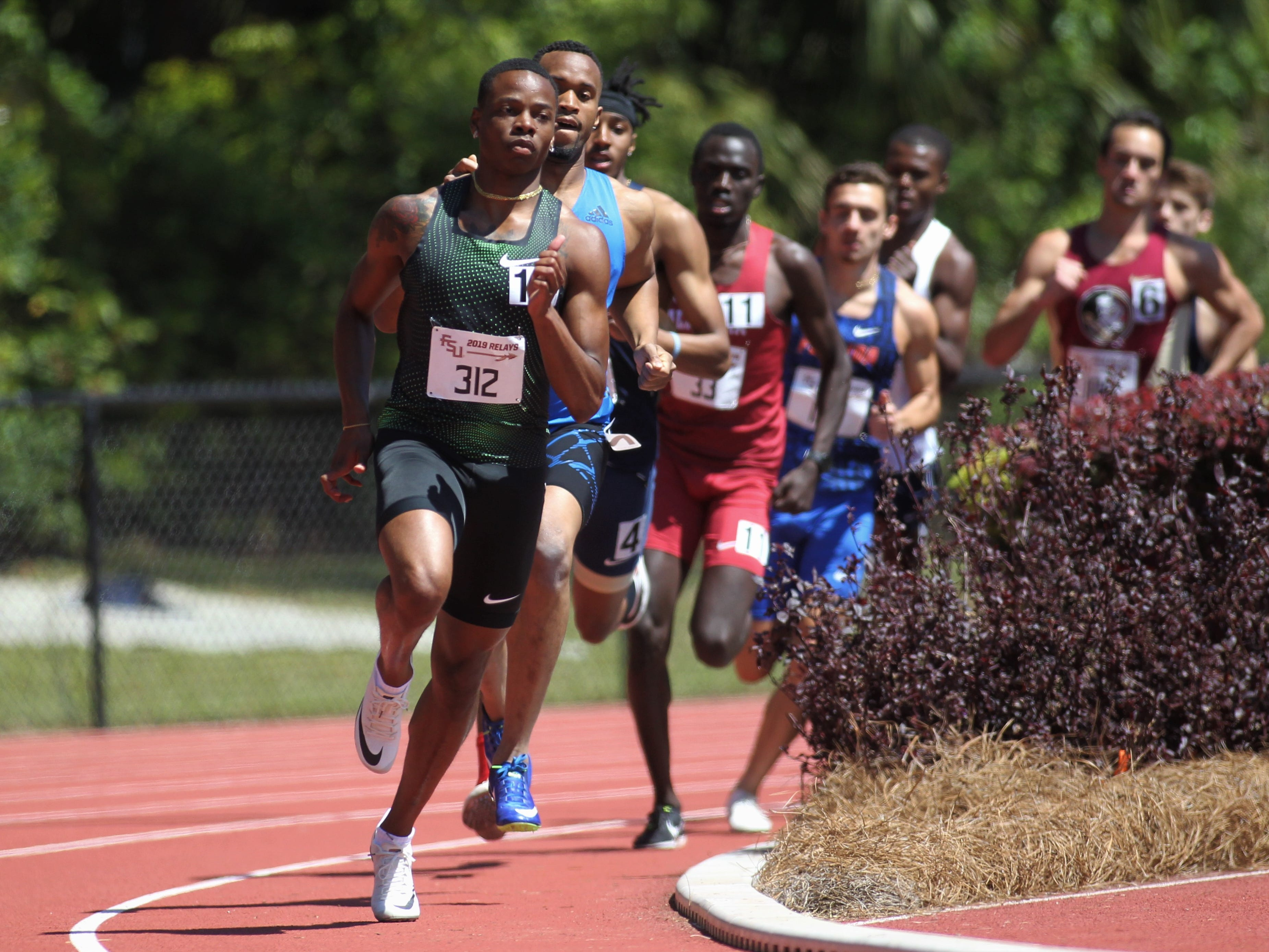 The 800-meter run during Friday's college portion of the FSU Relays at Mike Long Track on March 22, 2019.