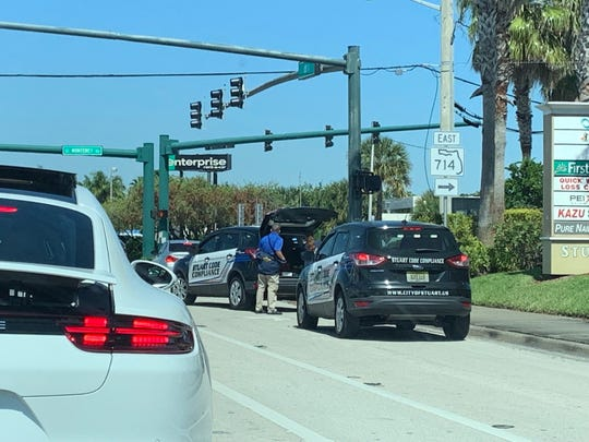 Stuck railroad gates cause delays in Stuart Friday afternoon.