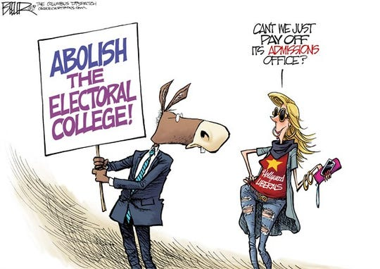 Cartoon: Dems and Electoral College