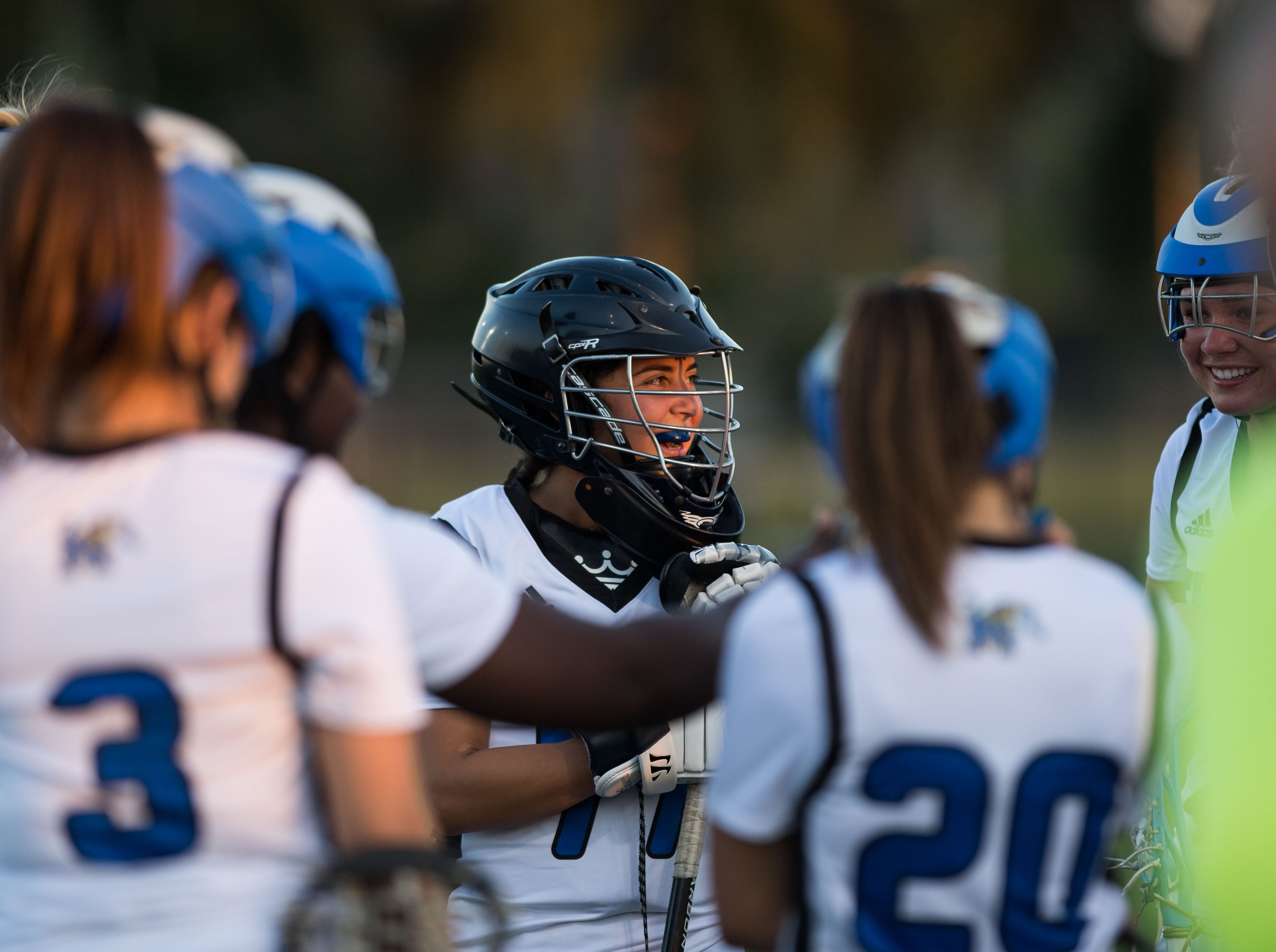 Martin County plays against Jensen Beach during the high school girls lacrosse game Thursday, March 21, 2019, at Martin County High School in Stuart. Martin County beat Jensen Beach 14-12.