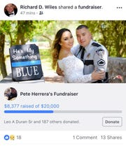 El Paso County Sheriff Richard Wiles shared a fundraiser for the wounded deputy on Facebook.