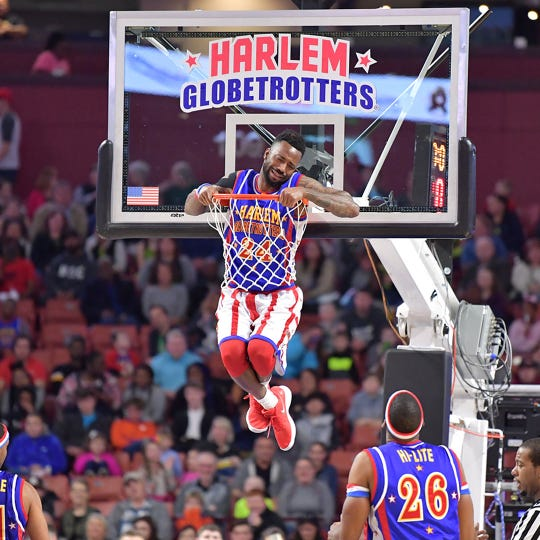 The Harlem Globetrotters team is visiting Wausau West High School for a performance on April 10 at 7 p.m.