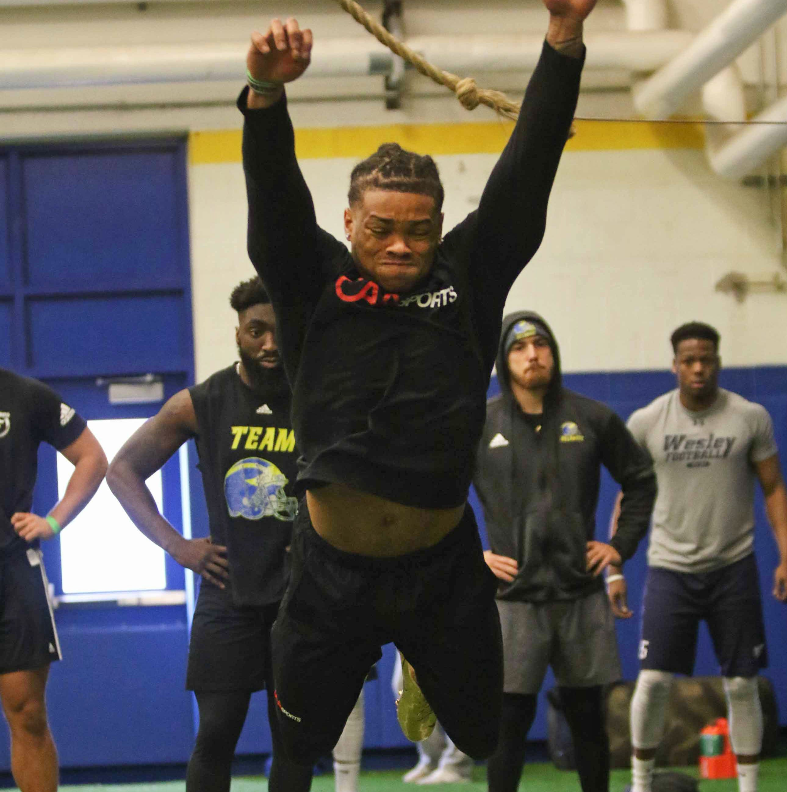 Potential Eagles target, Delaware star Nasir Adderley, ends pro day early with injury