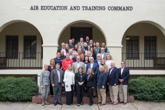 Chamber CEO Henry Florsheim, second from left on the front row, was recently nominated and accepted into the AETC Civic Leader Group by Lt. Gen. Steve Kwast, the AETC Commander. He serves alongside Dr. Suzanne Shipley from MSU Texas.