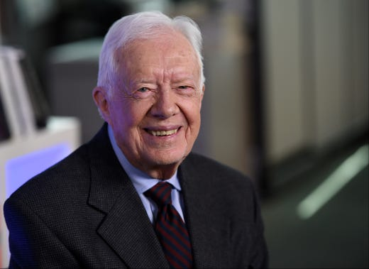Jimmy Carter during an interview in New York on March 24, 2014.