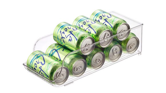 Store soda cans easily with this can organizer.