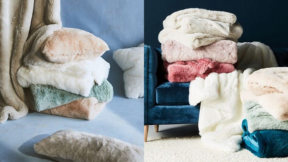 Nothing is cuddlier than a faux fur throw. Nothing.