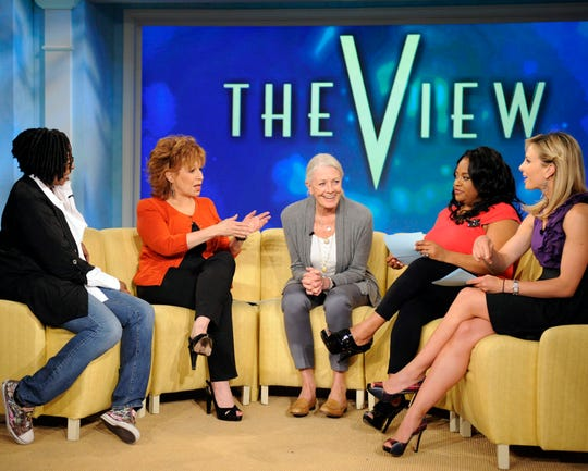Actress Vanessa Redgrave, center, with Whoopi Goldberg, on the far left, Joy Behar, Sherri Shepherd and Elisabeth Hasselbeck for an episode of