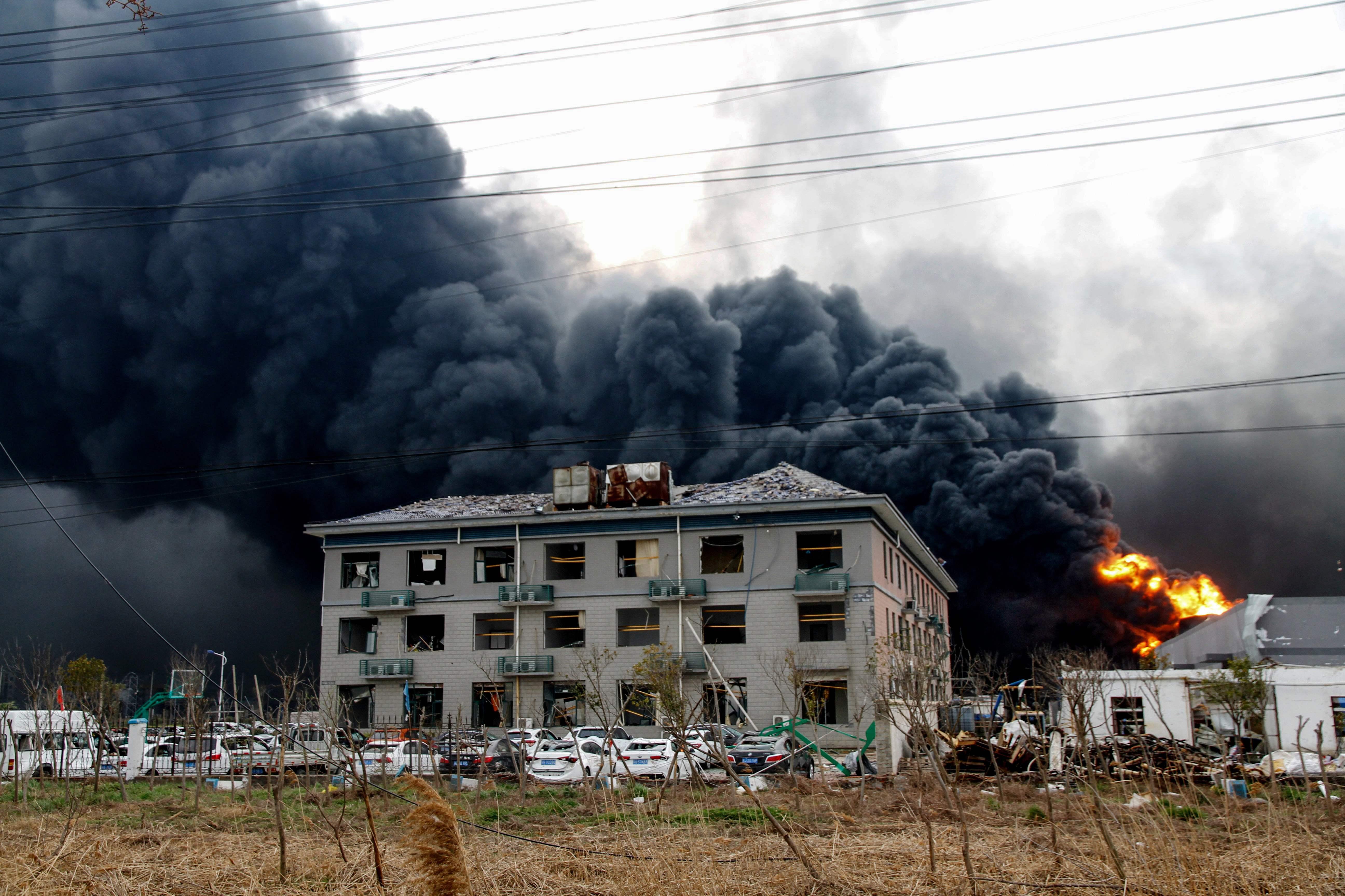 China chemical plant blast kills scores, injures hundreds