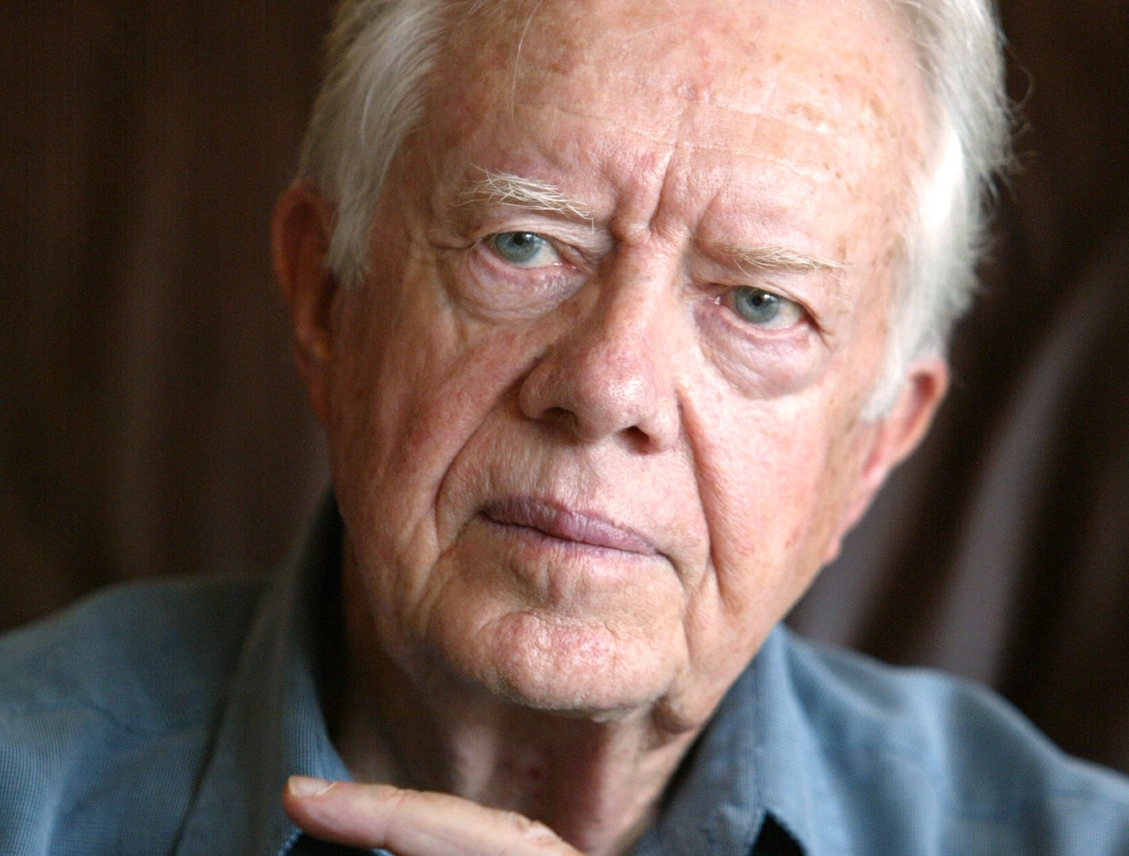 Jimmy Carter during an interview in Plains, Ga. on Sept. 28, 2002.