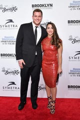 Underwood and Raisman made their red carpet debut as a couple at the 2016 Sports Illustrated Sportsperson of the Year Ceremony.