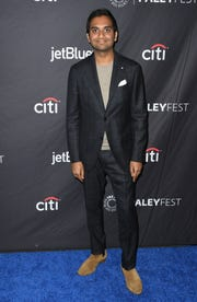 """Aziz Ansari at the PaleyFest """"Parks and Recreation"""" 10th anniversary reunion."""