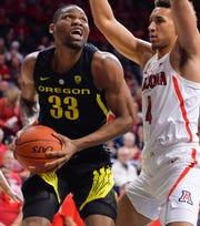 Francis Okoro helped spark Oregon's late-season resurgence.