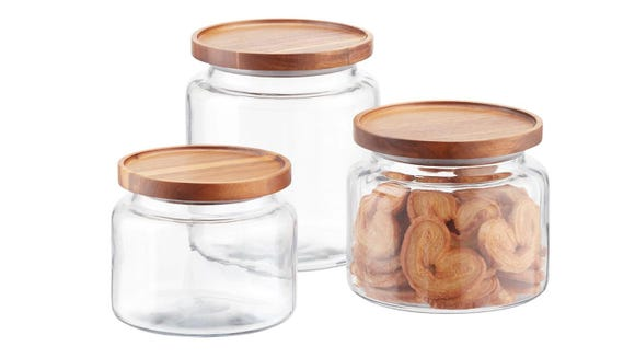 Store flour, sugar and more in these stylish containers.