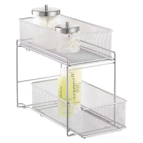 This organizer can help tidy up areas underneath your sink.