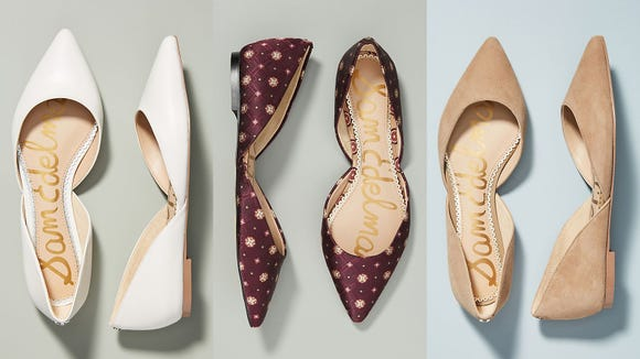 No one will question your taste when you wear these sleek flats.