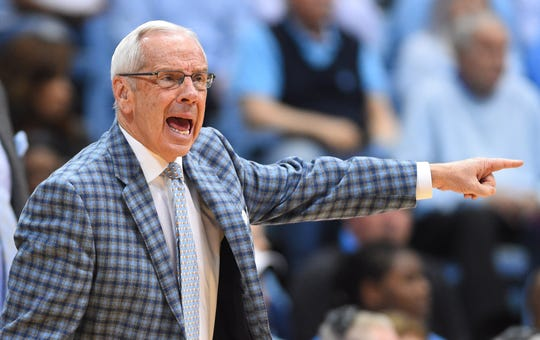 Roy Williams has won three national championships as coach.