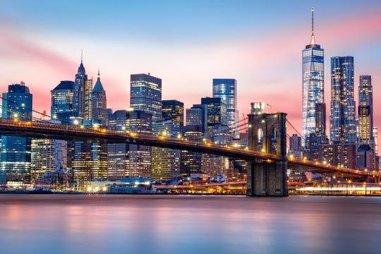 The Lower Manhattan skyline.