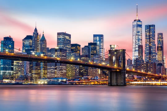 The Lower Manhattan skyline.