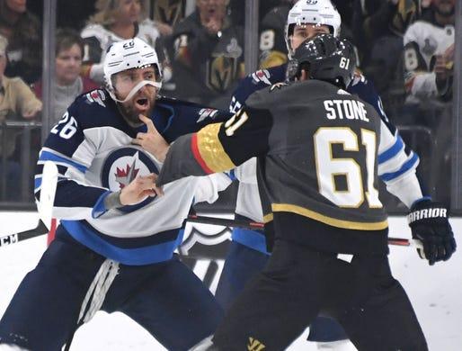 1851a539b1b March 21  Winnipeg Jets  Blake Wheeler vs. Vegas Golden Knights  Mark Stone