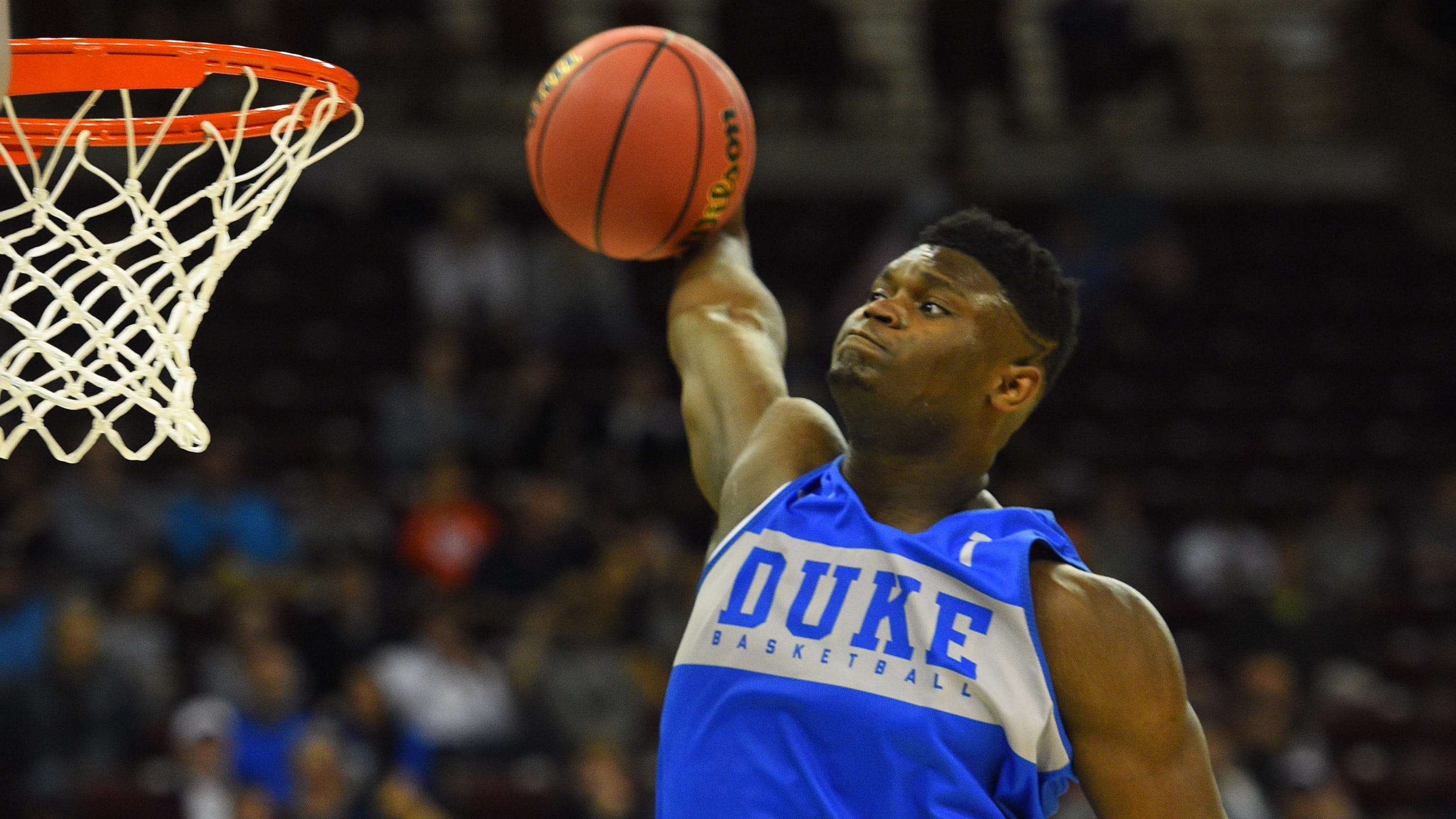 Zion Williamson will play in his first NCAA tournament game when Duke takes on North Dakota State.