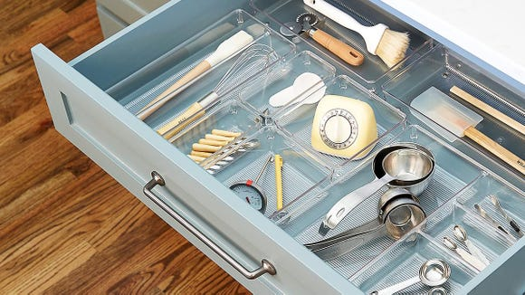 Organize messy drawers with this organizer.