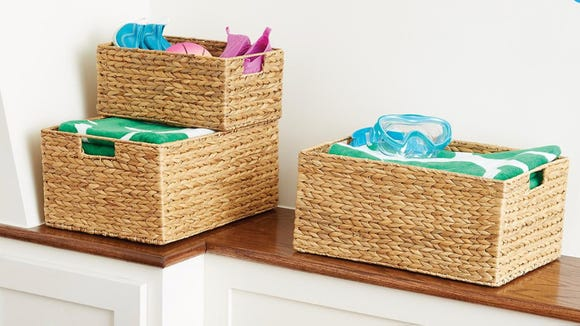 These woven baskets are a terrific alternative to plastic bins.