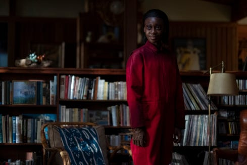 "Shahadi Wright Joseph wears a frightening grin as the evil Umbrae in ""Us."""