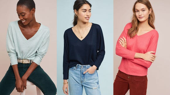 These sweaters are perfect cozy for chilly spring evenings.